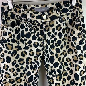 Zara Woman Animal Print Capri Cropped Pants